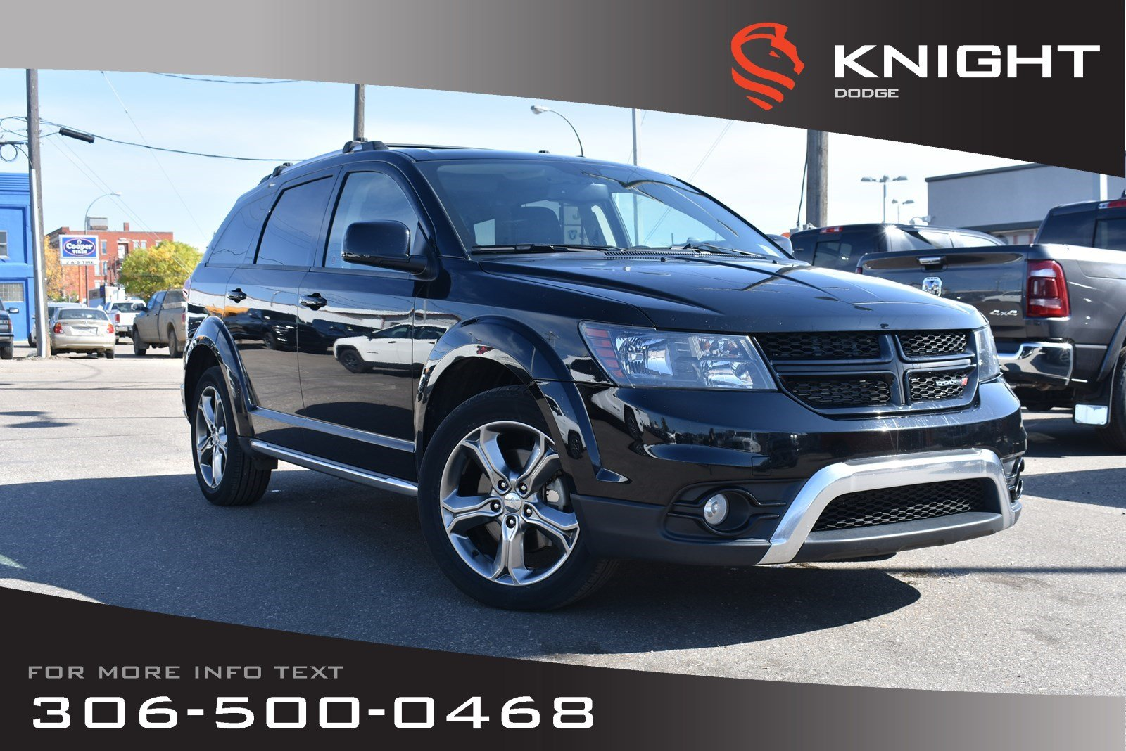Pre-Owned 2017 Dodge Journey Crossroad | Leather | Heated Seats & Steering Wheel | DVD Package |