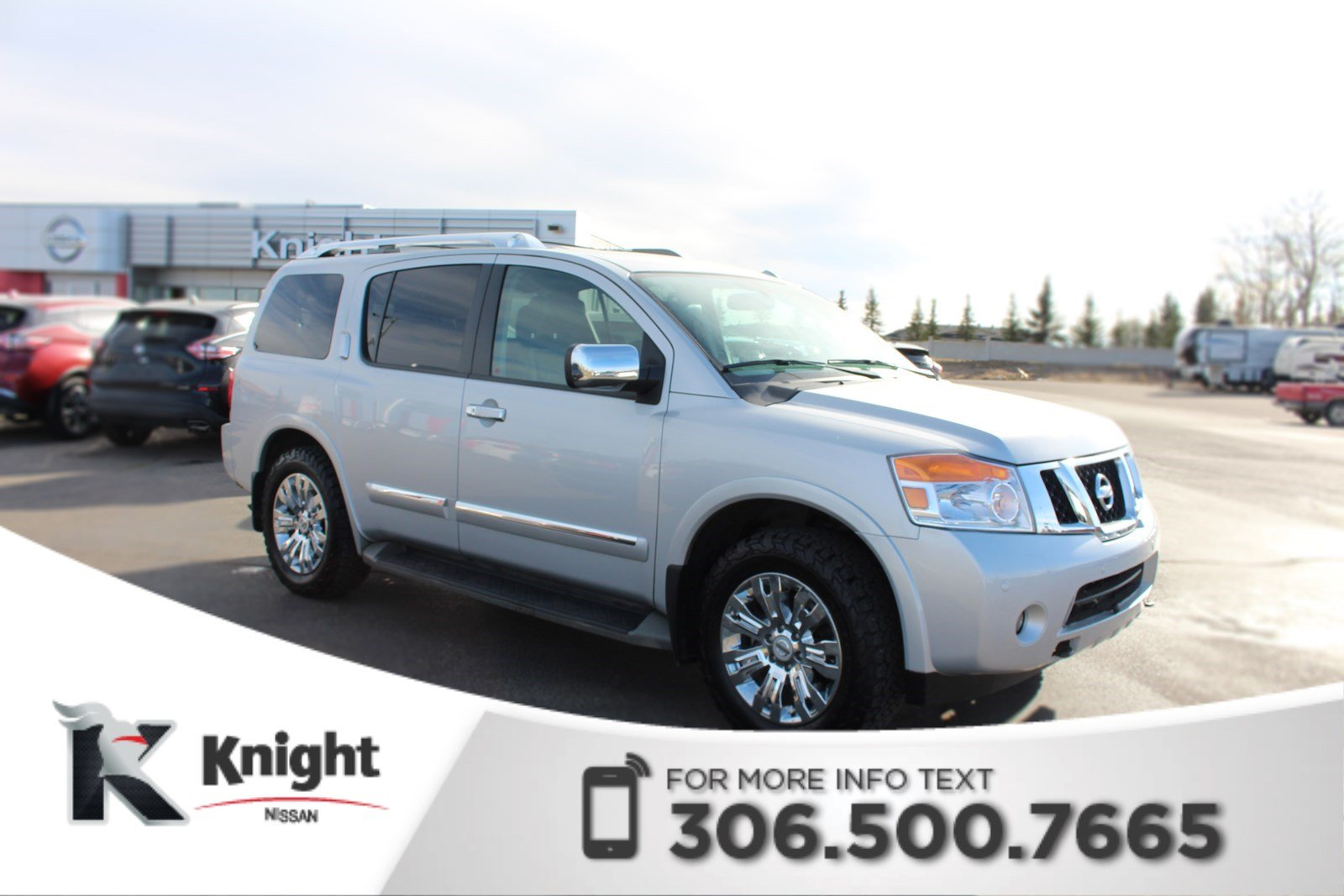 Pre-Owned 2015 Nissan Armada Platinum! DVD Package! Navigation! Heated Seats! Power Tailgate! Key-less Entry!