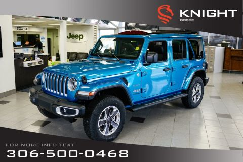 New 2020 Jeep Wrangler Unlimited Sahara Turbo | Leather | Navigation | Remote Start