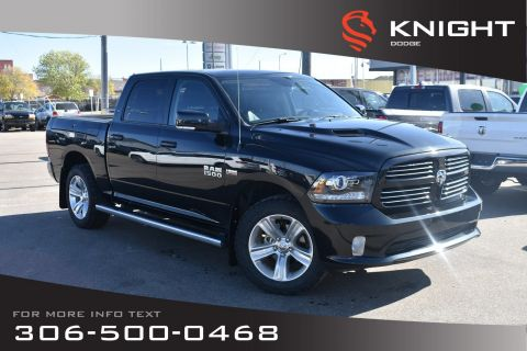 Pre-Owned 2017 Ram 1500 Sport | Leather | Heated & Cooled Seats | RamBox |