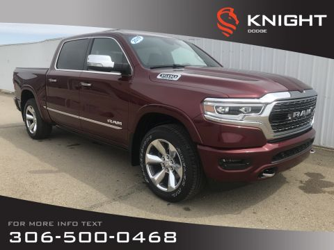 New 2019 Ram 1500 Limited Crew Cab 4x4 | HEMI | Leather Heated Seats | Sunroof | NAV 12 Screen | Back-up Camera