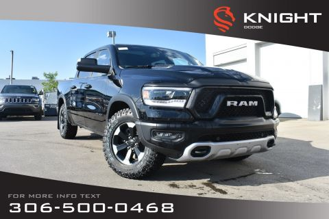 New 2019 Ram 1500 Rebel Crew Cab | Heated Seats and Steering Wheel | Sunroof | Navigation