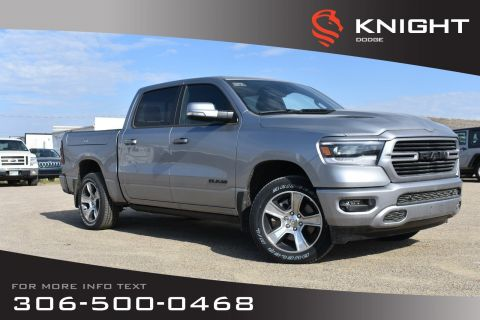 New 2019 Ram 1500 Sport Crew Cab | Leather | Sunroof | Navigation | RamBox | 12 Touchscreen