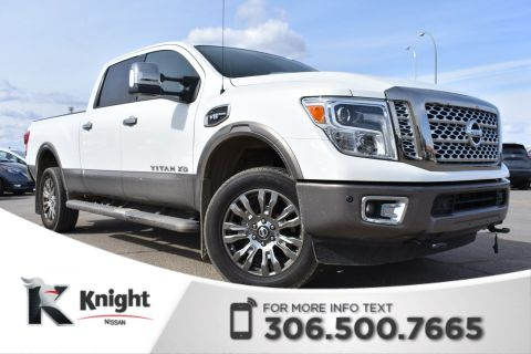 Pre-Owned 2016 Nissan Titan XD Platinum Reserve Crew Cab | Black/Brown Leather | Navigation | Remote Start |