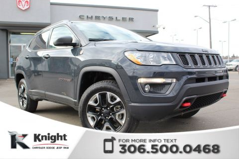 Pre-Owned 2018 Jeep Compass Trailhawk - Full Sunroof - Navigation - Heated Leather Seats - Heated Steering Wheel