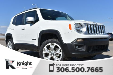 Pre-Owned 2018 Jeep Renegade Limited Leather | Heated Seats & Steering Wheel | Low KMs |